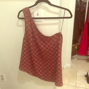 One Shoulder Printed Free People Top